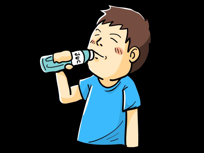 ドリンクを飲む(水分補給)男性のイラスト | 無料で使えるフリーな「らくがき素材」